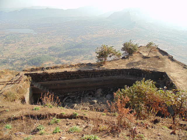 Water reservoir of tikona fort around pune, Maharashtra