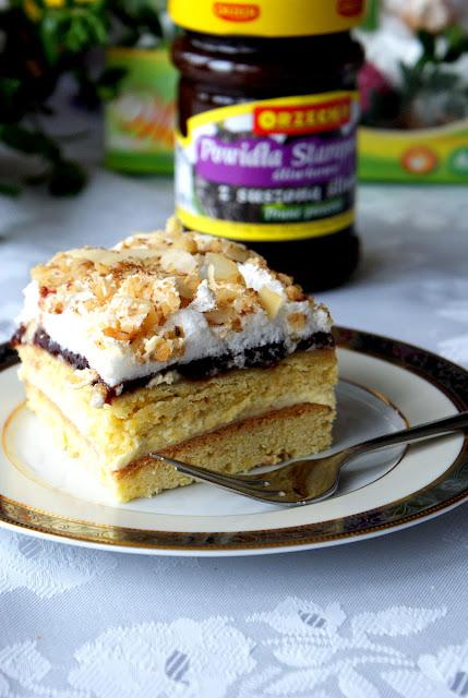 pani walewska,orzech powidla staropolskie sliwkowe,ciasto na komunię,ciasto na święta,