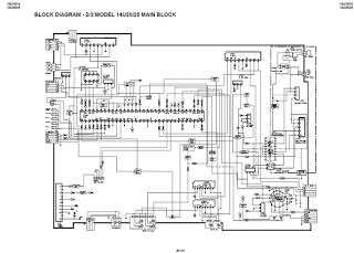 Skema TV SHARP schematic main board 14U10-15, 14U20-25(UA-1)