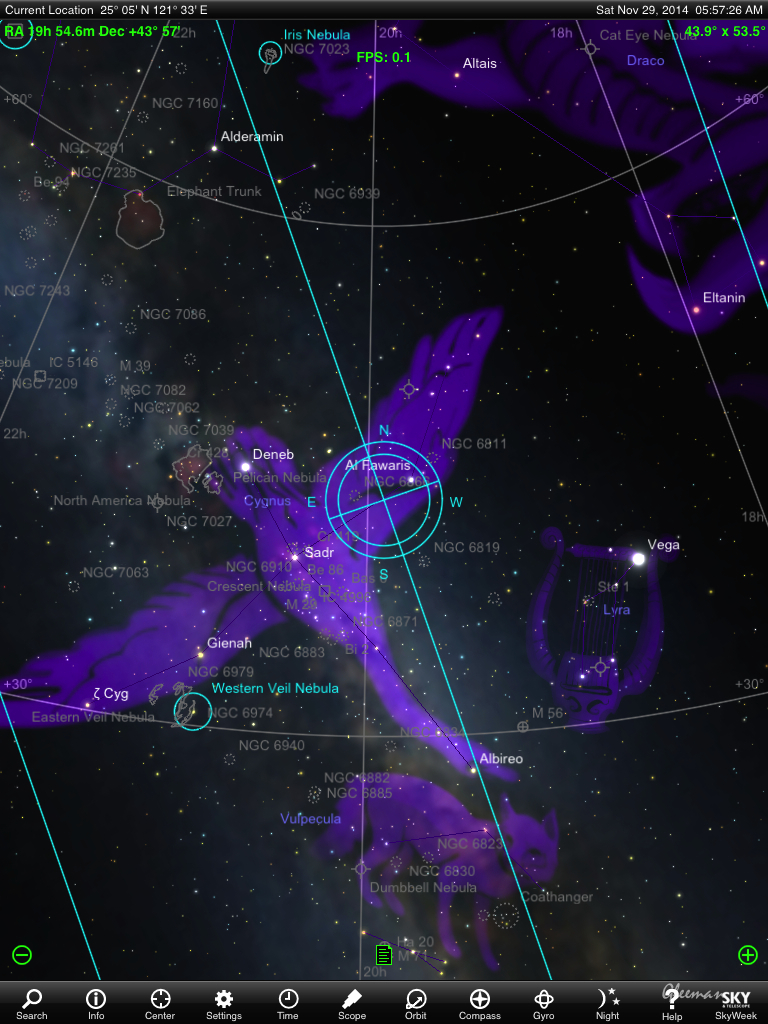 Kepler-186f 的座標位置