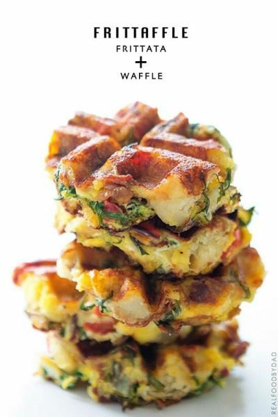 Di Indonesia, frittata biasa disebut gorengan, mirip dengan adonan bakwan. Jadi, anda bisa menggunakan cetakan waffle untuk memasak bakwan, seperti contoh frittaffle+waffle ini.