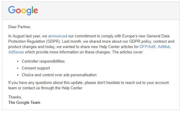 Pengaruh GDPR Terhadap Publisher Google Adsense dan Pengguna Google Analytic