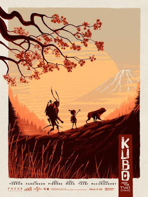 Thought Bubble 2016 Exclusive Kubo and the Two Strings Screen Print by Matt Ferguson x Vice Press