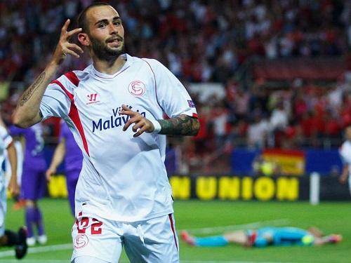 Aleix Vidal trong màu áo câu lạc bộ Sevilla đã thi đấu rất thành công