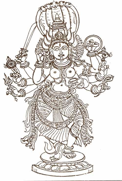 Goddess Ashtabhuja