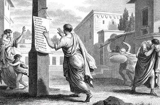 LUCIO SILLA - Un significativo (e inquietante) parallelo tratto dalla Storia antica - OPPORTUNE IMPORTUNE