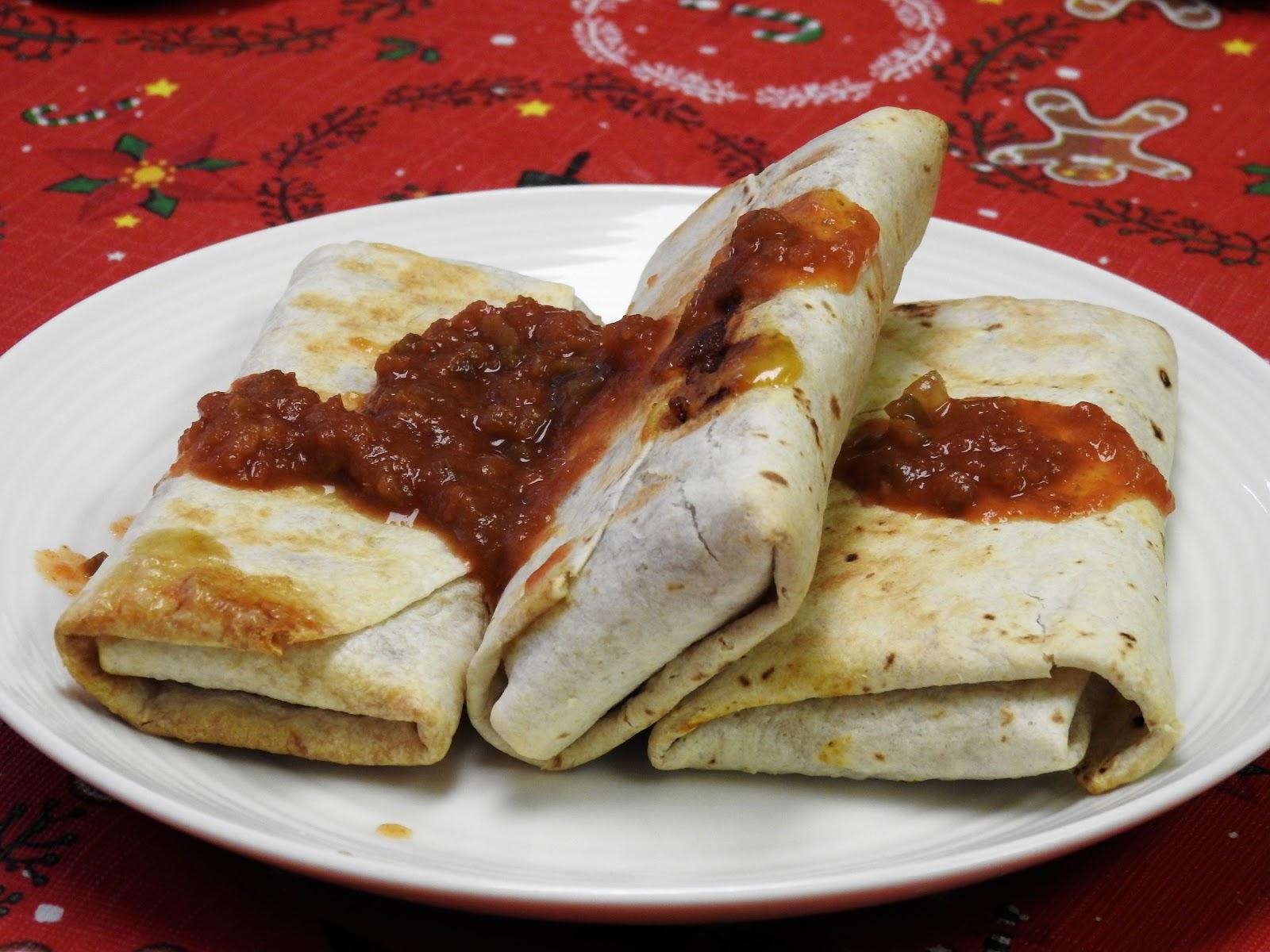 alpha burritos with salsa