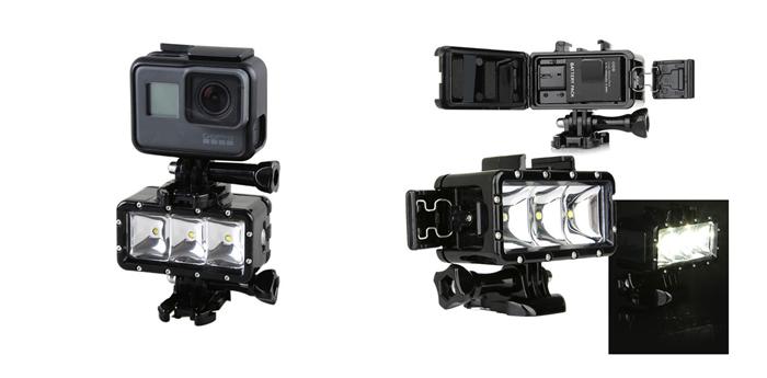 Светодиодный фонарь для экшен-камеры