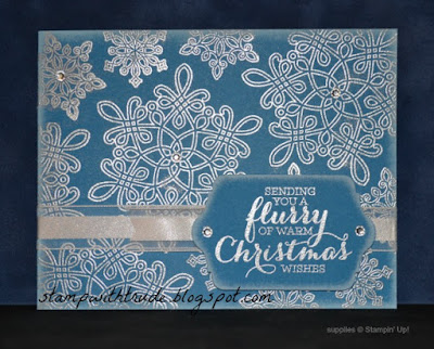 Flurry of Wishes, Stampin' Up!, Trude Thoman, Tuesday Tutorial, stampwithtrude.blogspot.com, Christmas card, snowflakes