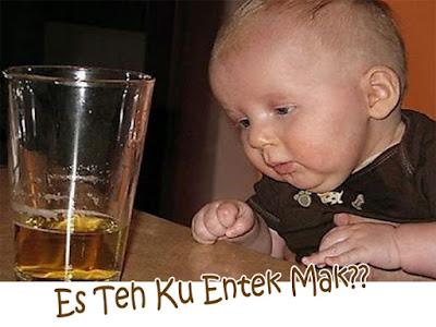 gambar anak kecil kehabisan minuman