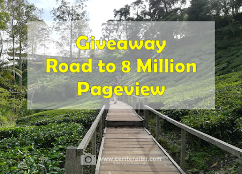 Giveaway Road to 8 Million Pageview