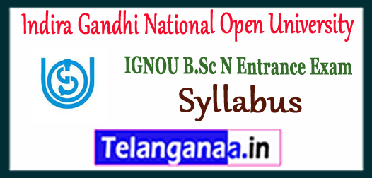 IGNOU Indira Gandhi National Open University B.Sc Nursing Syllabus 2018 Admit Card