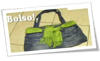 26d427e081 Puedes crear un lindo y original bolso desde tu propio viejo jean. también  podrás personalizarlo