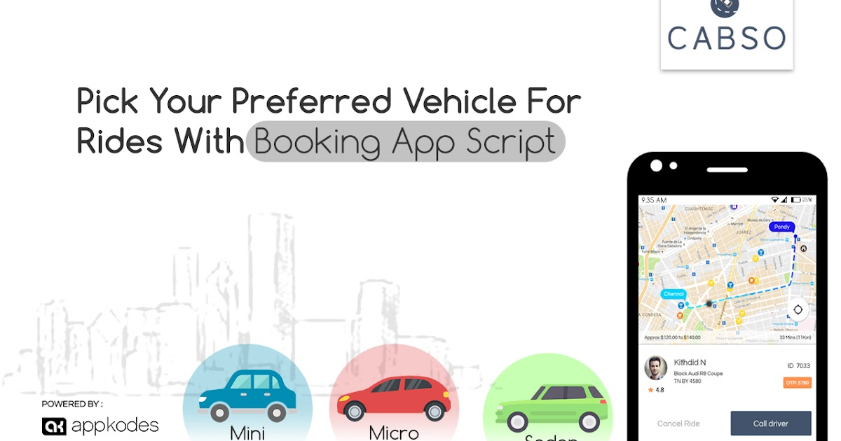 Pick Your Preferred Vehicle For Rides With Taxi Booking App Script