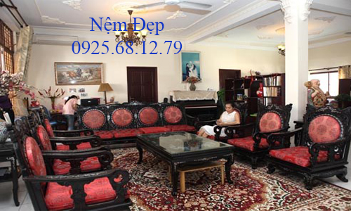 bọc nệm ghế sofa gỗ 017
