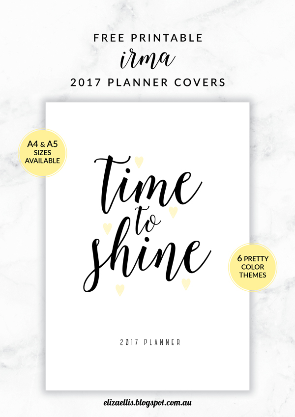 FREE PRINTABLE IRMA 2017 ANNUAL CALENDARS & PLANNER COVERS