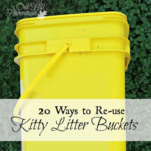 20 ways to repurpose cat litter buckets