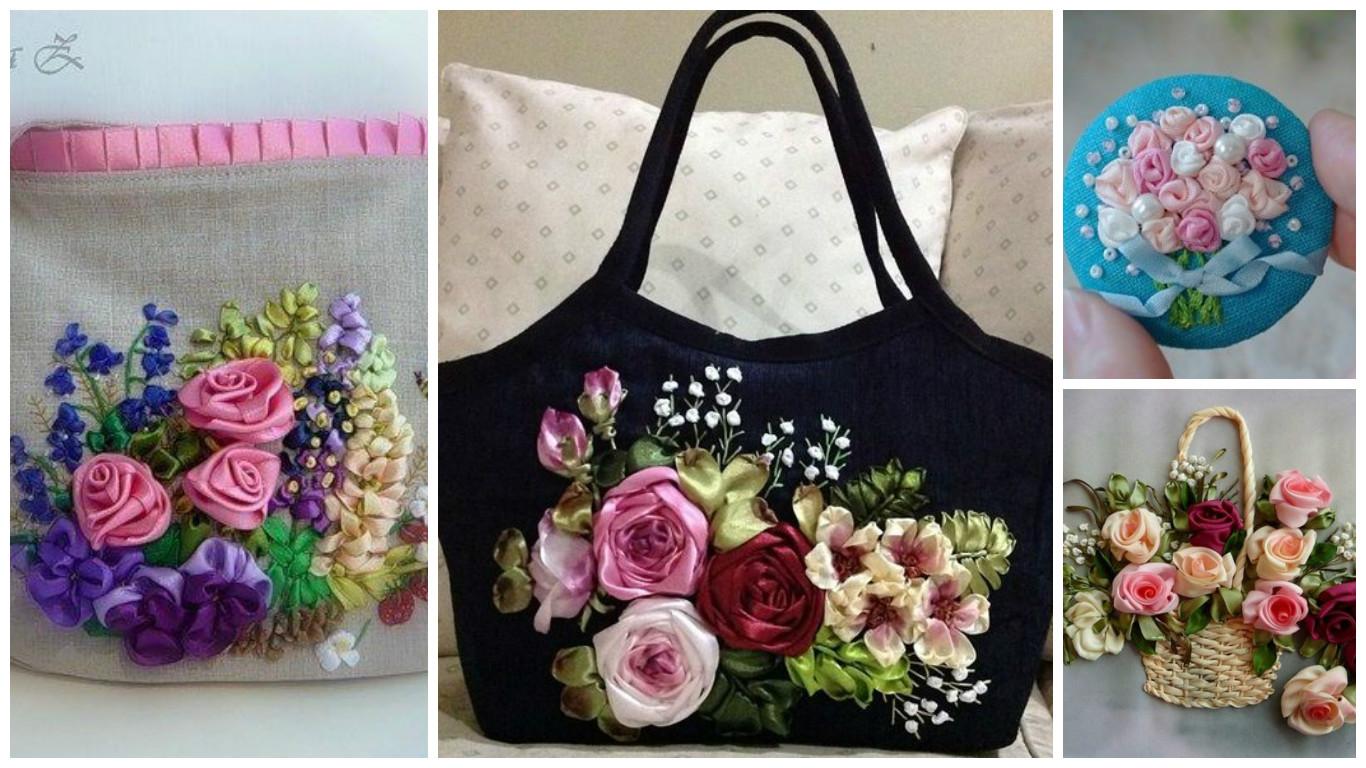 C mo bordar hermosas rosas en tela para decorar lodijoella for Manualidades con tela paso a paso
