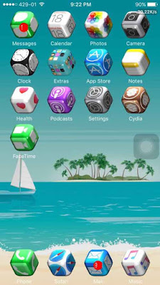 Well a new released jailbreak tweak called Vision lets you change your default square homescreen icons into real 3D icons effects which looks stunning & amazingly beautiful