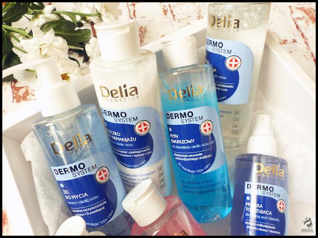 Hipoalergiczny płyn dwufazowy do demakijażu i żel do mycia - Delia Cosmetics