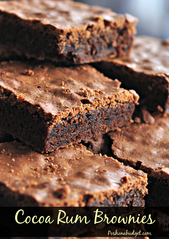 Delicious Killer Cocoa Rum Brownies
