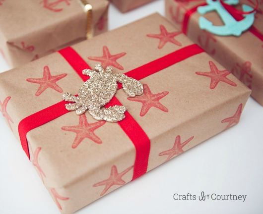 Coastal Christmas Gift Wrap Paper