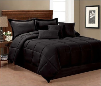 Home Remodeling Ideas: 6 All Black Bedding Sets Queen