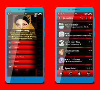 BBM Mod Red Angel Sad Based trasnparent V 2.12.0.9 apk