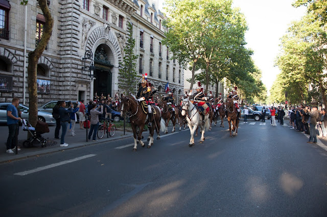 Republican guard horses Boulevard Henri IV