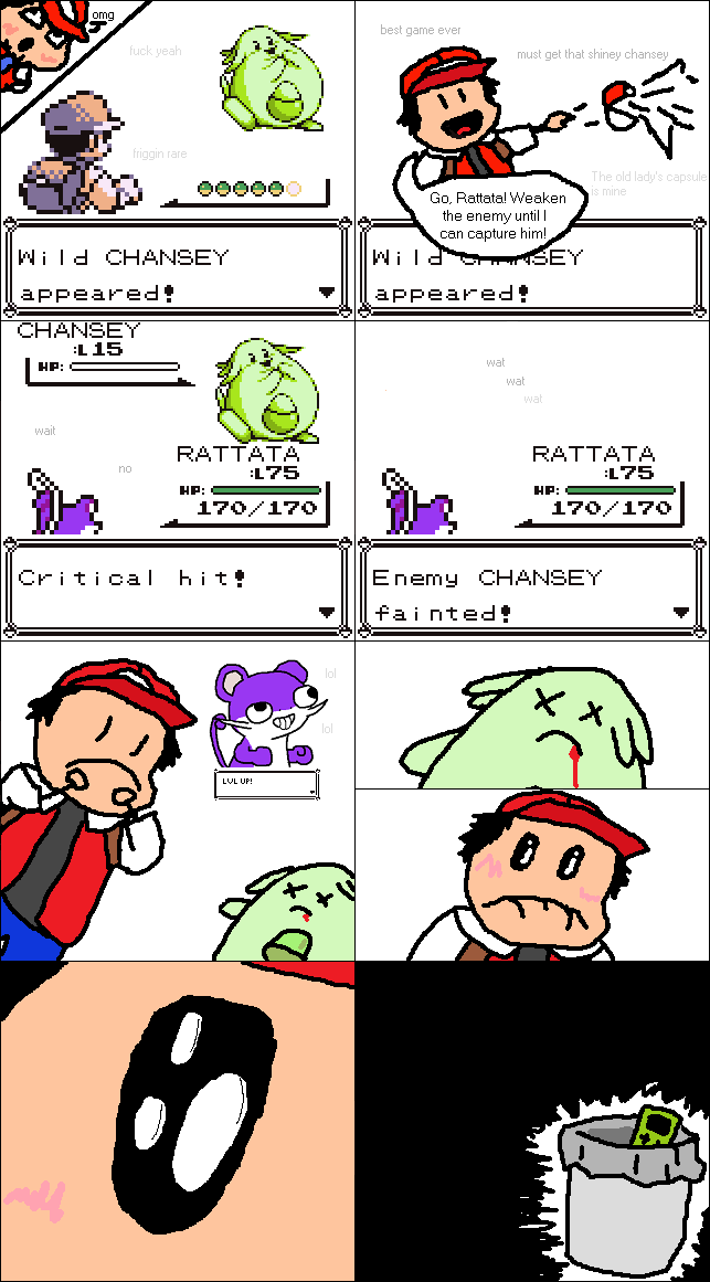 Critical Hit Pokemon Comic capture