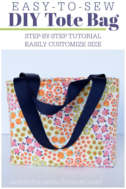 Easy to Sew DIY Tote Bag