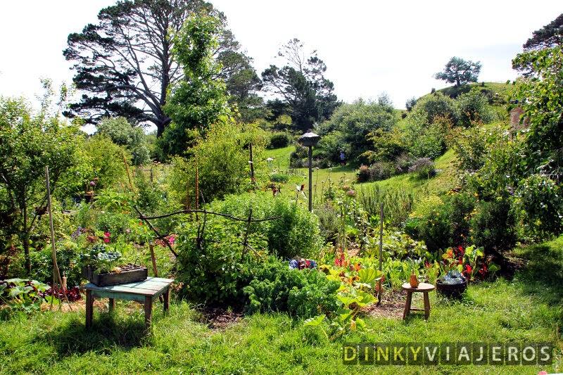 Los jardines de Hobbiton, cuidados por el mismísimo Sam