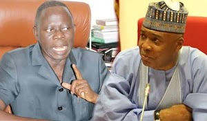 "Saraki Slams Oshiomhole: You Supposed To Keep Quiet After ""Collecting Bribe In Dollars"""