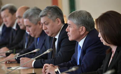 Almazbek Atambayev. Russian-Kyrgyzstani talks in the expanded format.