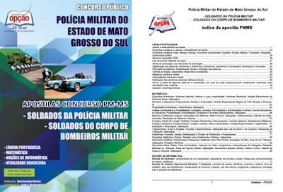apostila Concurso PM MS 2017 para Soldados e oficiais.