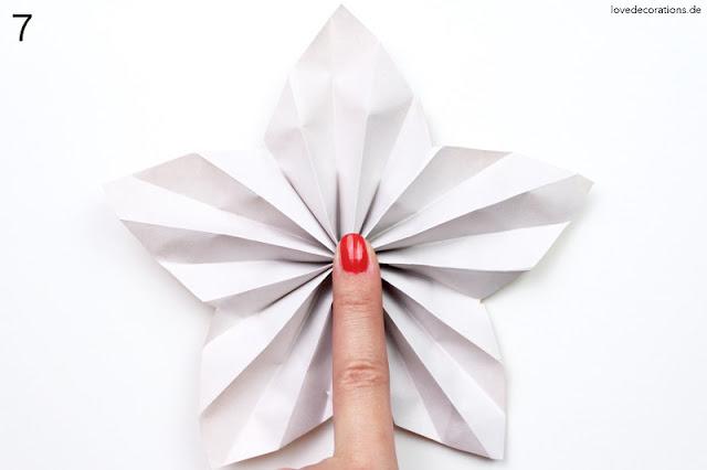 Papierstern Verpackung