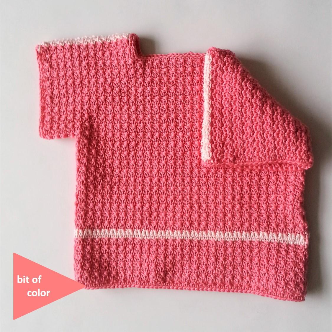 6d19c05ba26726 Bit of Color: Baby Lente Shirtje Gratis Haakpatroon