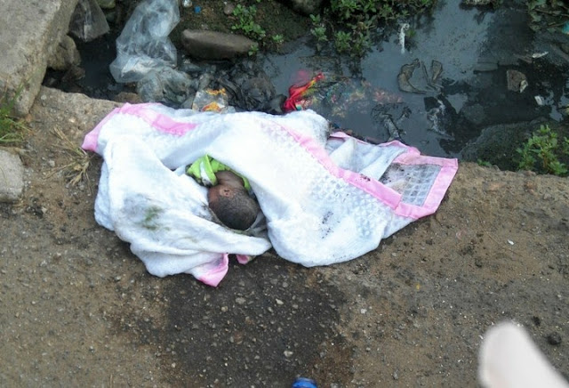 This New Born Baby Was Found Dead In A Gutter In Lagos