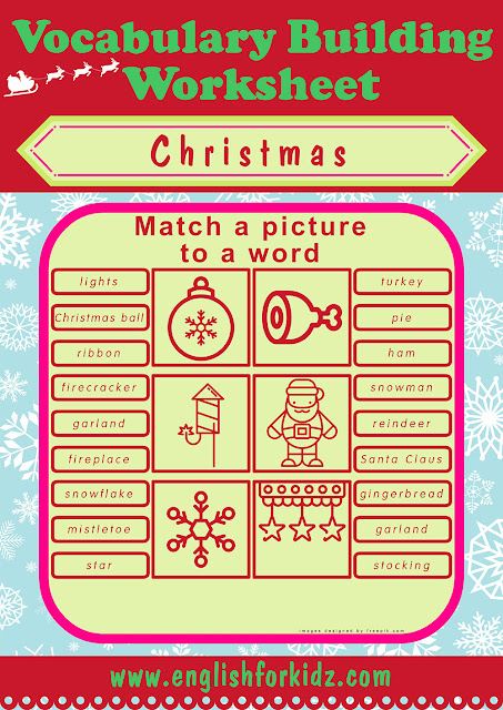 ESL Christmas activities, free worksheets