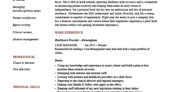 case management resume samples sample resumes