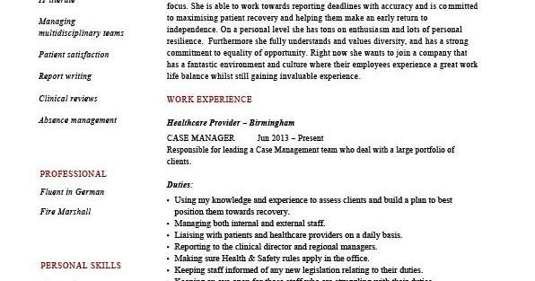 Case Management Resume Samples Sample Resumes - case management resume samples