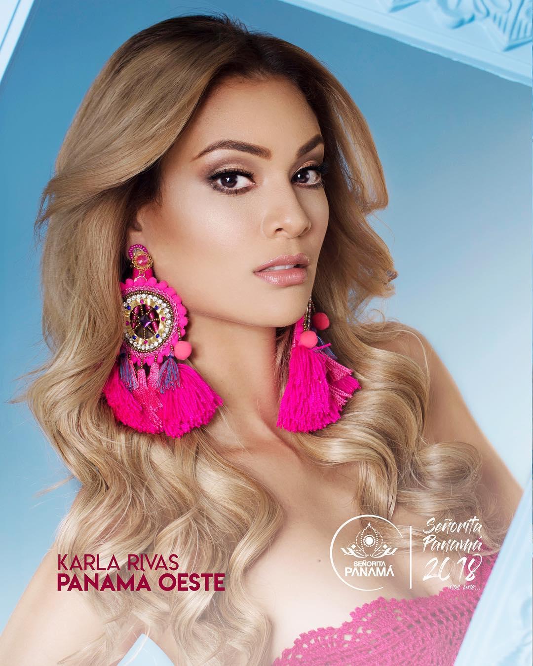 señorita miss colombia 2018 candidates candidatas contestants delegates Miss Panamá Oeste Karla Rivas