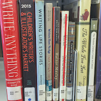 Books on Gaithersburg Library's shelves about writing