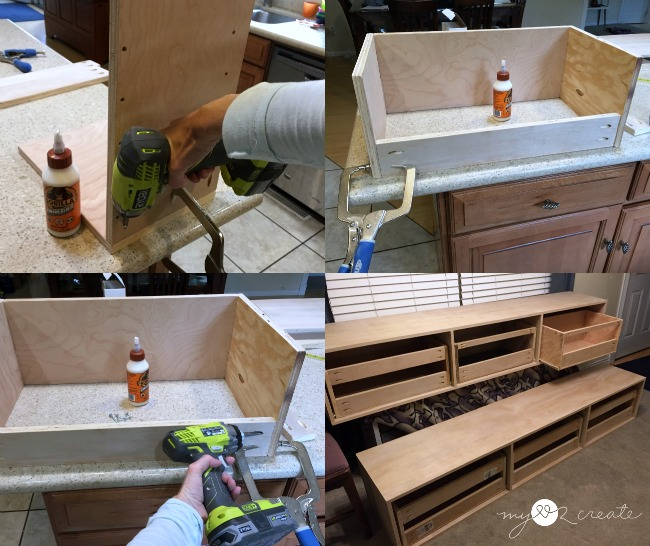 using pocket holes to build drawers