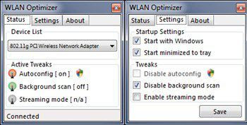 Optimize WiFi connection with WLAN Optimizer