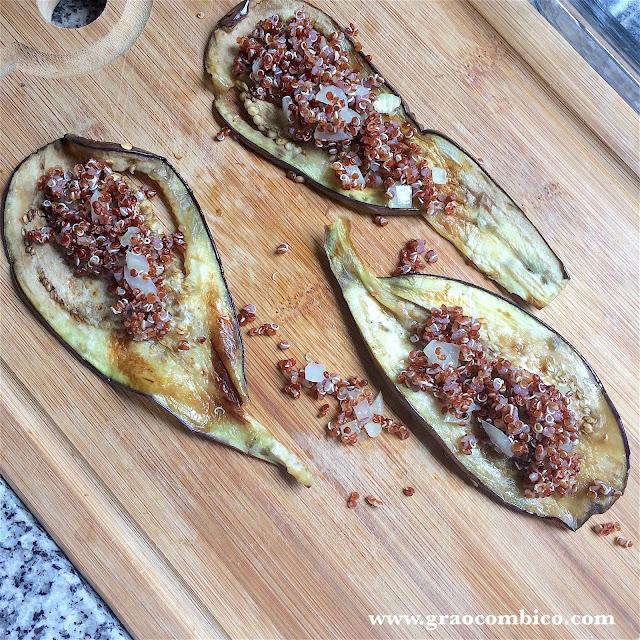 canelone vegano de quinoa