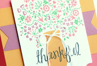 Stampin' Up! Occasions Catalog 2017 Host-Exclusive stamp set Thankful Life flower card #stampinup www.juliedavison.com