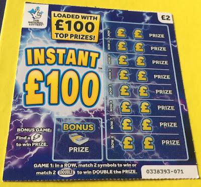 £2 Instant £100 Scratch Card