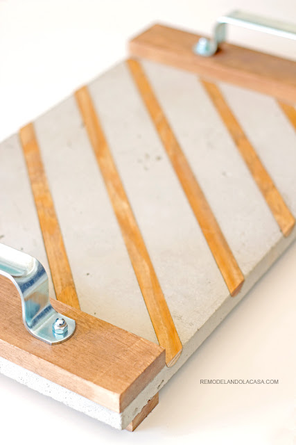 how to make a concrete tray - industrial handles