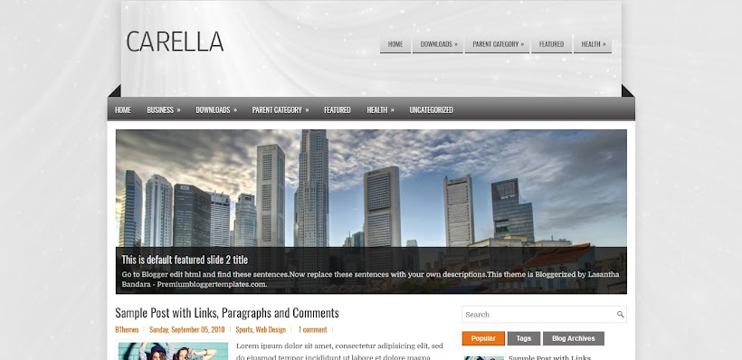 Carella Free Blogger Template